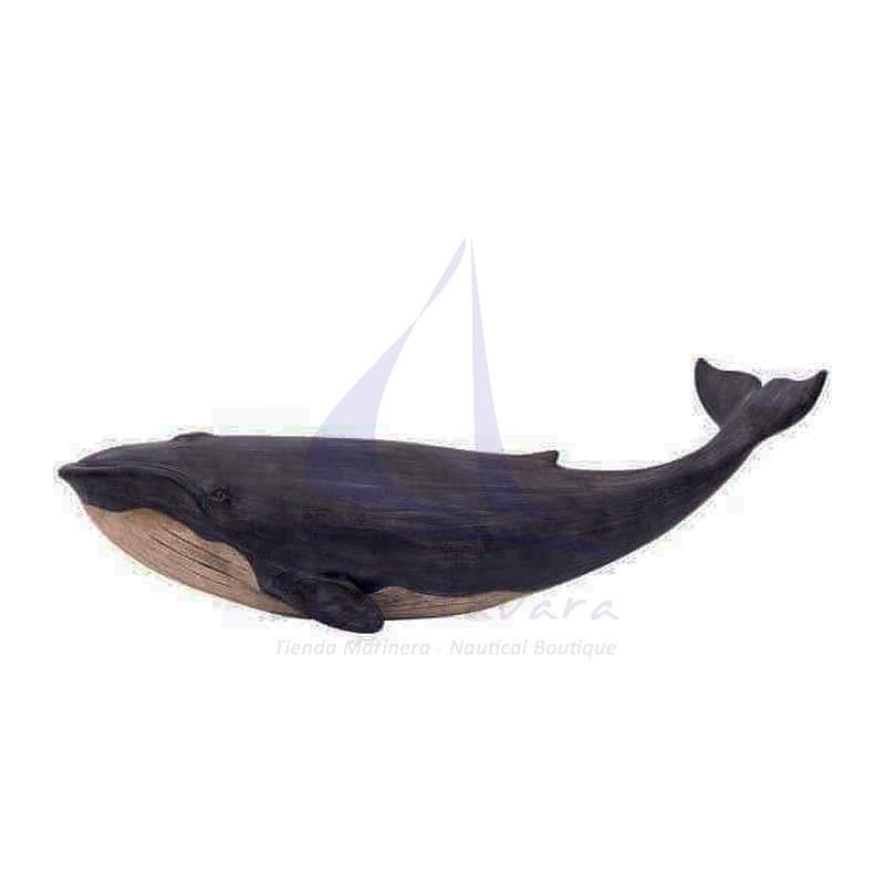 Decorative blue whale