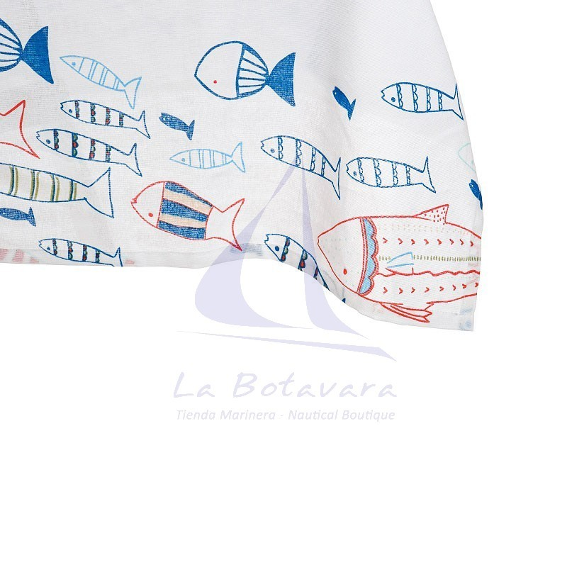 Fishes tablecloth with 8 matching napkins 3