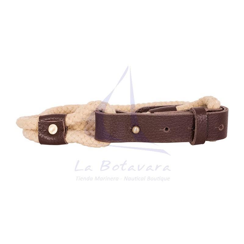 Cinturón Batela de cabo y cuero de mujer