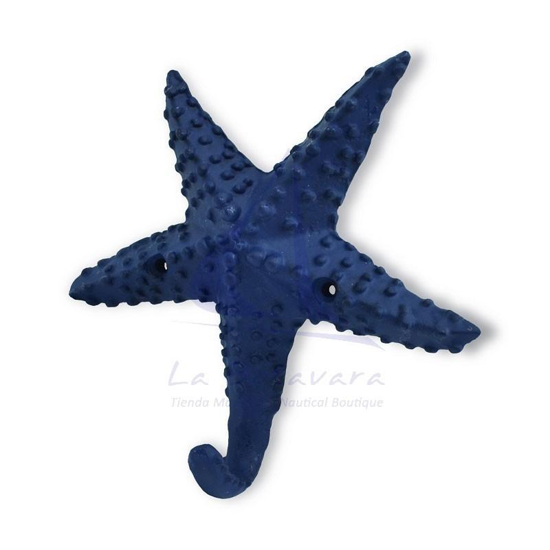 Percha estrella de mar azul de fundicion
