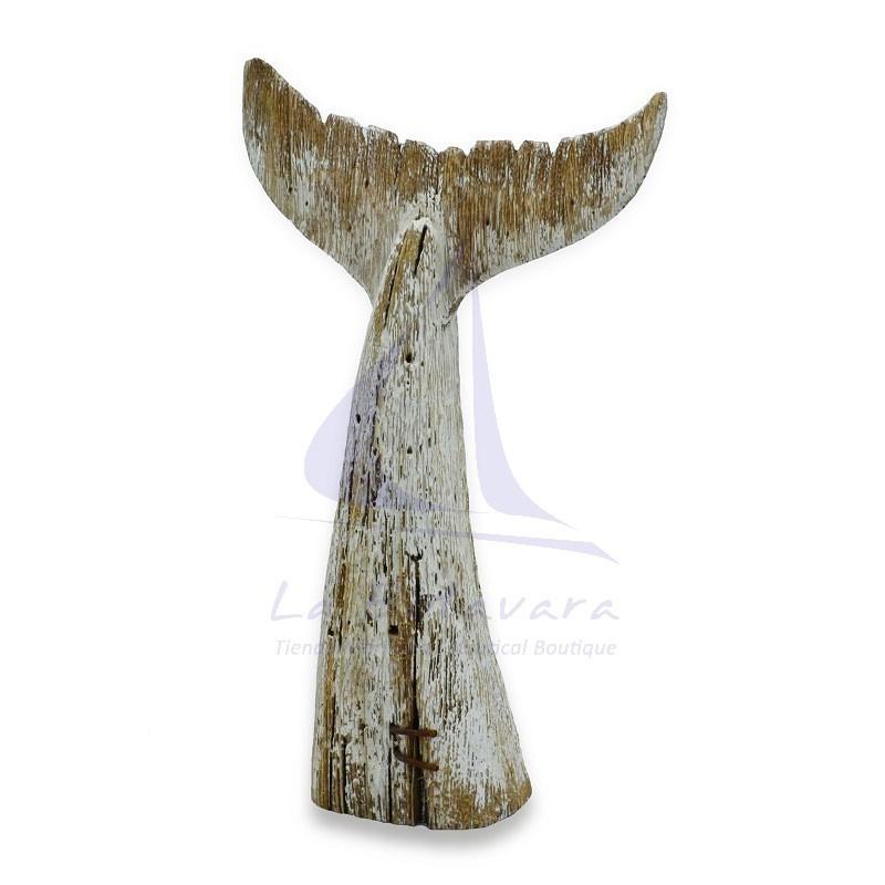 Cola de ballena blanca de madera rústica