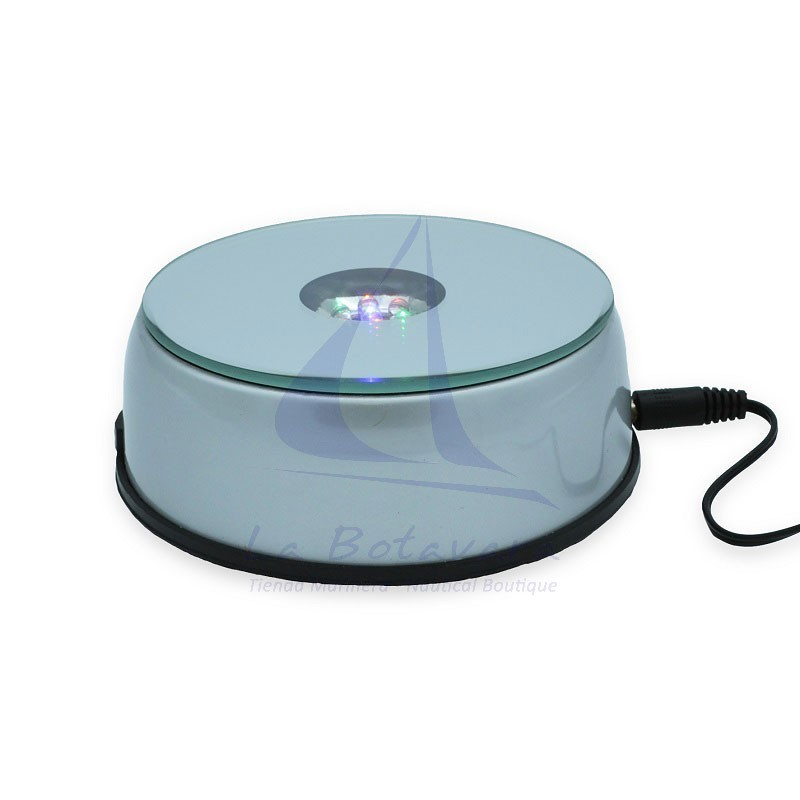 LED rotating lamp with mirror