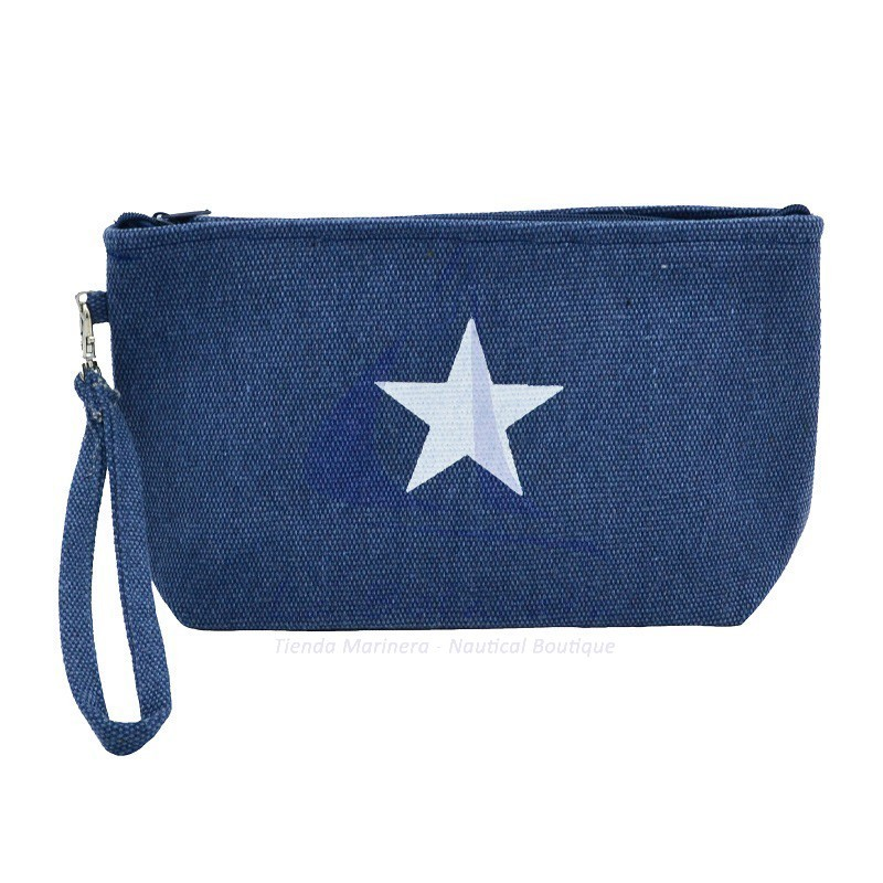Navy blue Canvas toiletry bag with star