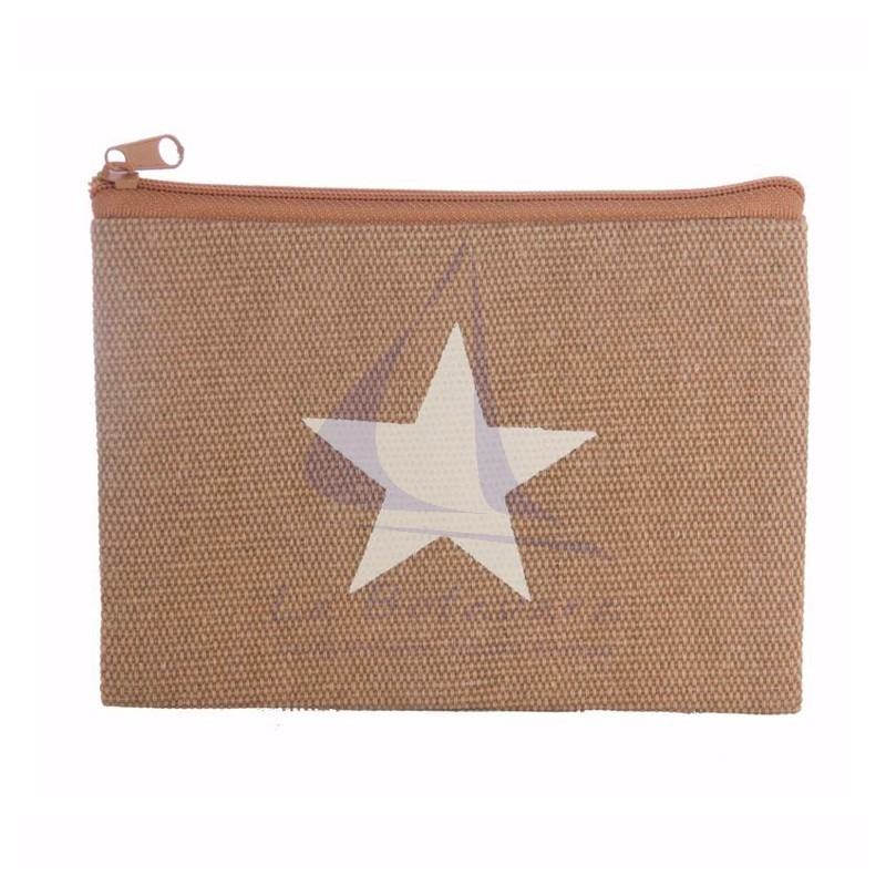 Beige Canvas purse with star