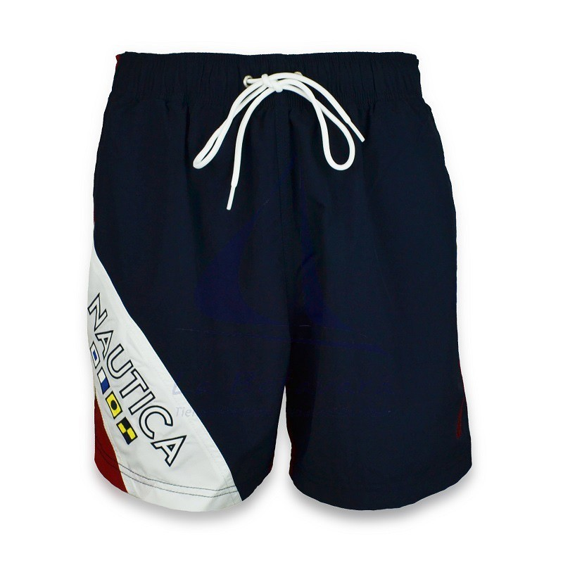 Tricolor Nautica flags swimtrunks
