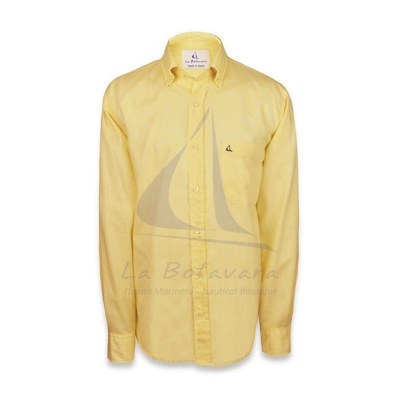 Camisa amarilla de algodón con bordado de La Botavara
