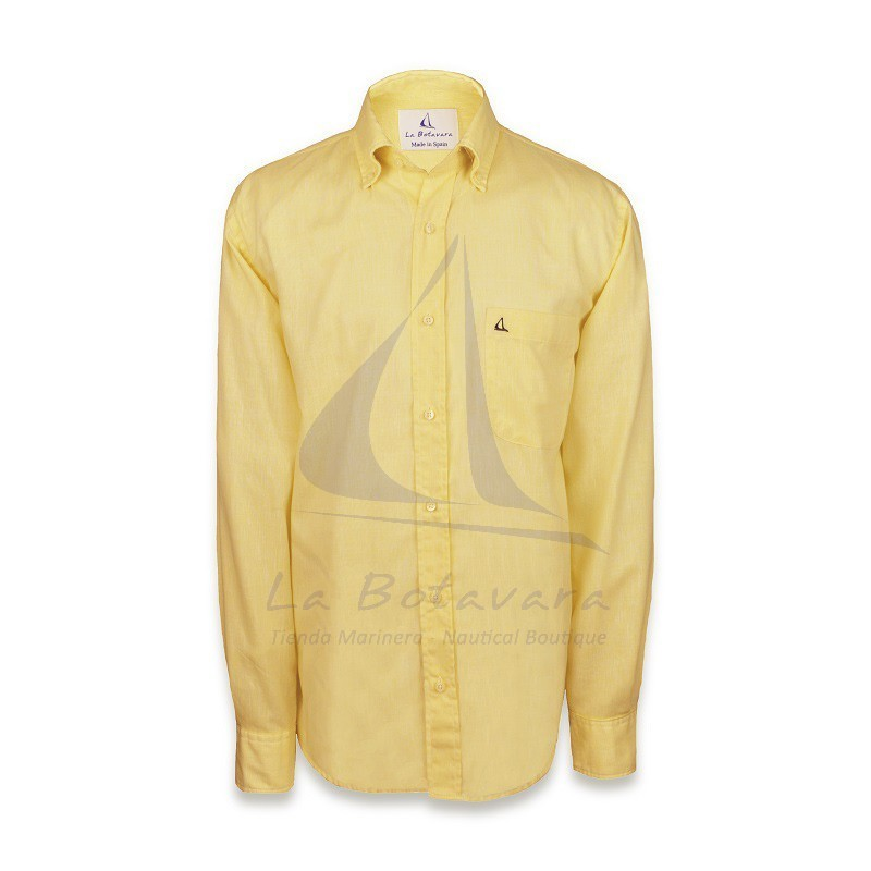 Embroidered yellow cotton shirt