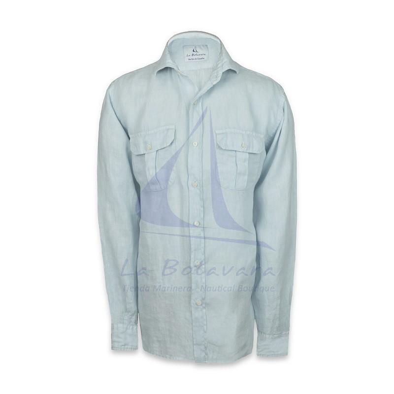 2 Pockets Guayabera linen shirt made in Spain
