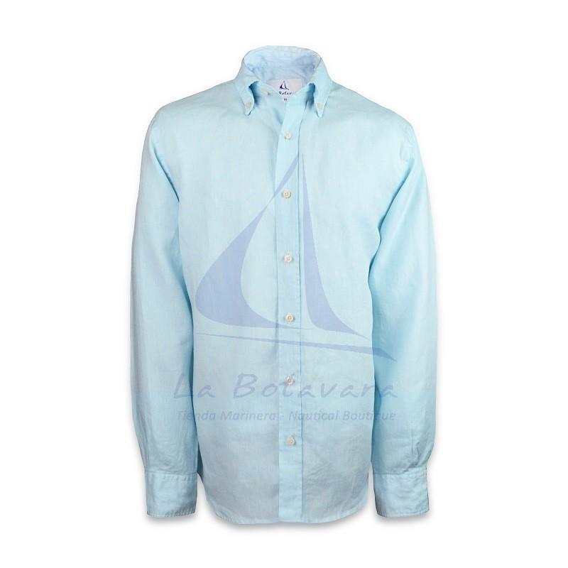 Camisa Fernando de Carcer celeste de algodón de La Botavara