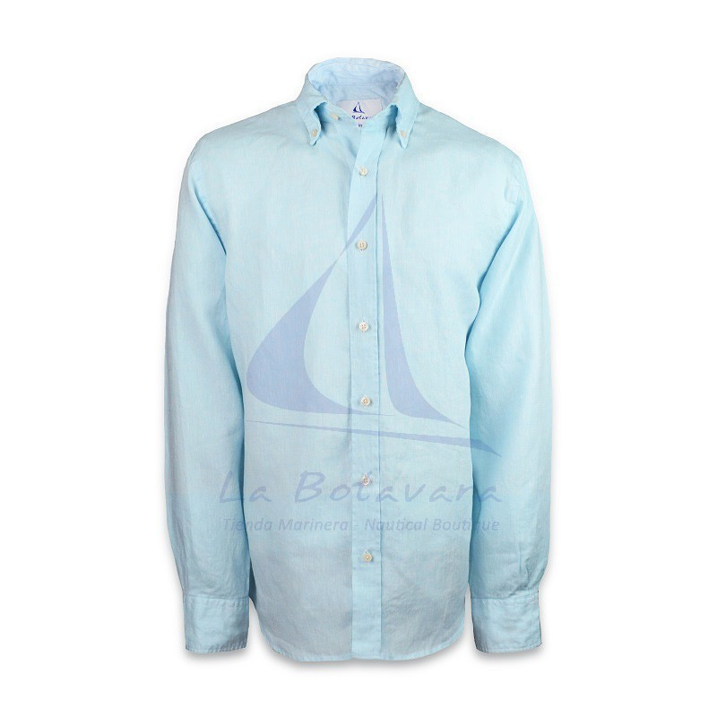 Sky blue cotton shirt Made in Spain
