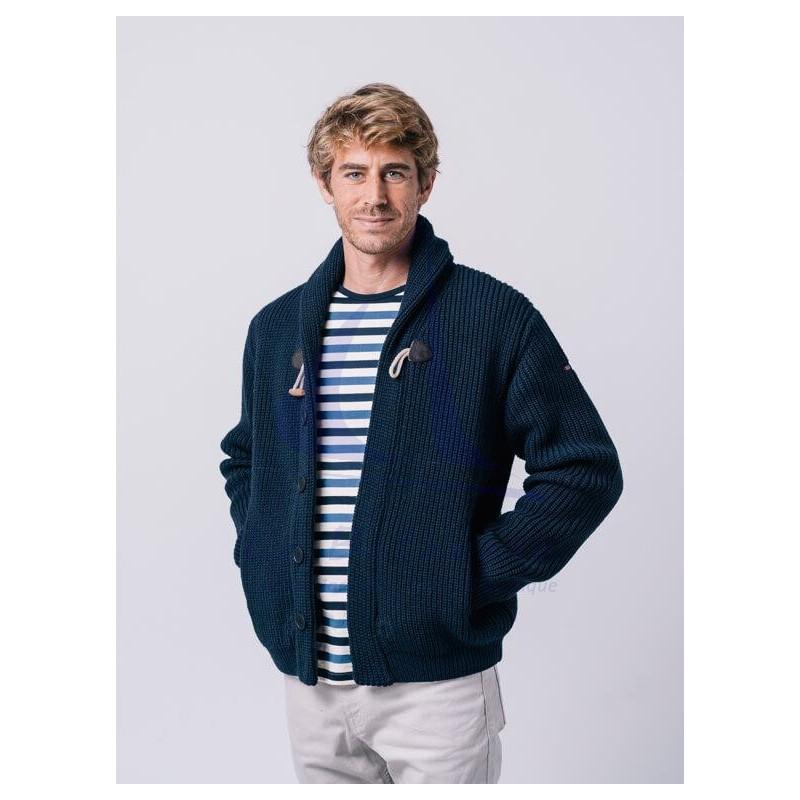Chaqueta Batela de hombre de lana con botones marino