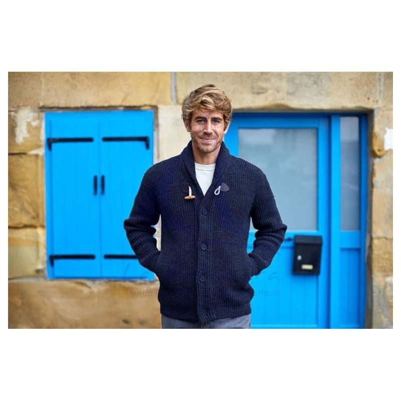 Chaqueta Batela azul marino de hombre de lana con botones