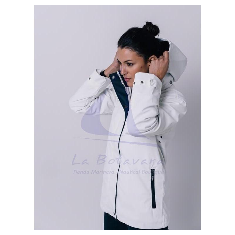Batela women's raincoat with polar fleece 2