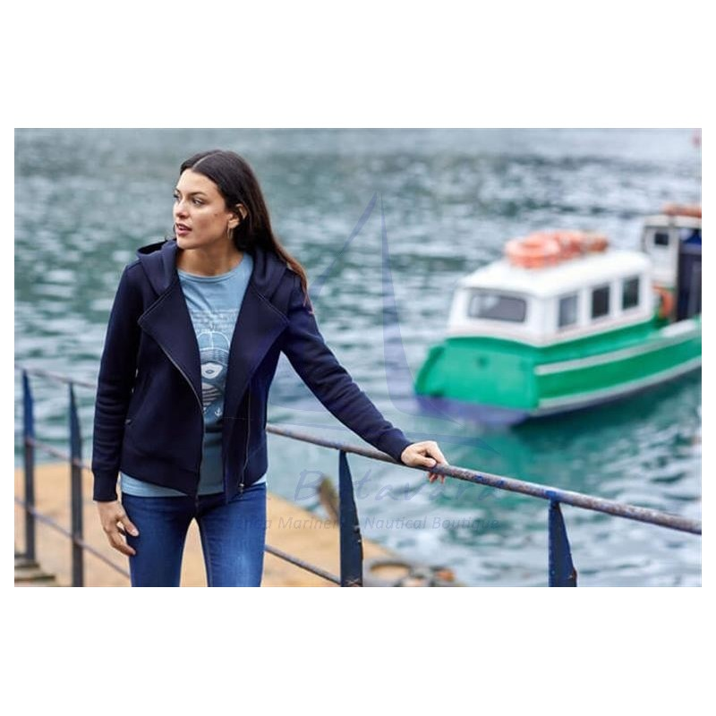 Navy blue Batela crossed jacket for women