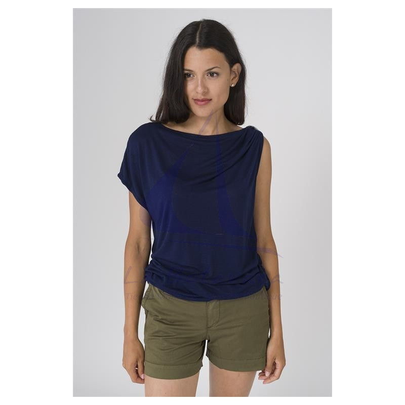 Batela woman t-shirt with gathered shoulder 2