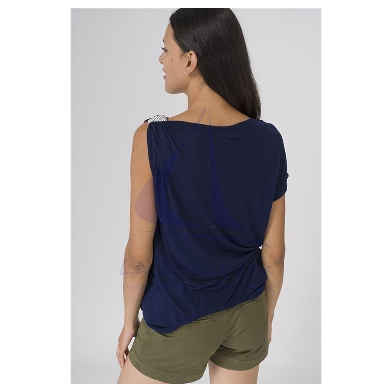 Camiseta Batela de mujer con hombro recogido 3