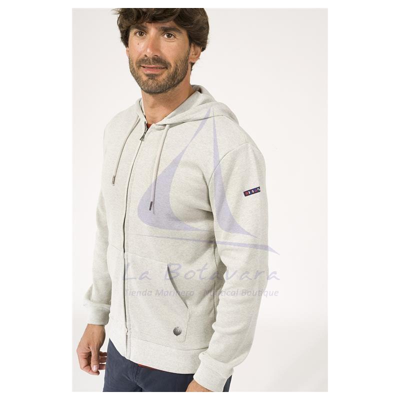 Grey Batela jacket with hood for man 2