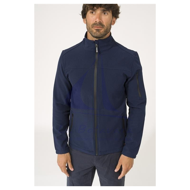 Batela navy blue softshell jacket for man 3