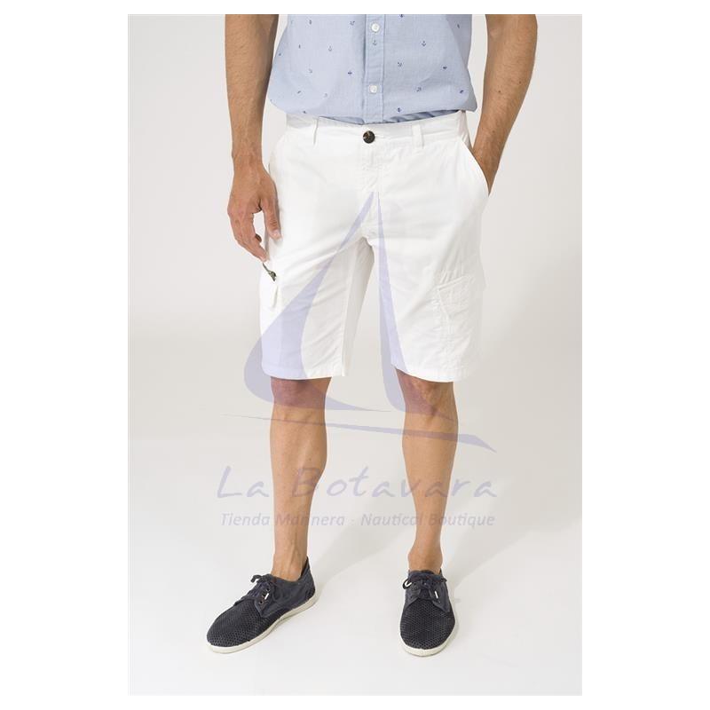 White Batela cargo shorts for man 2