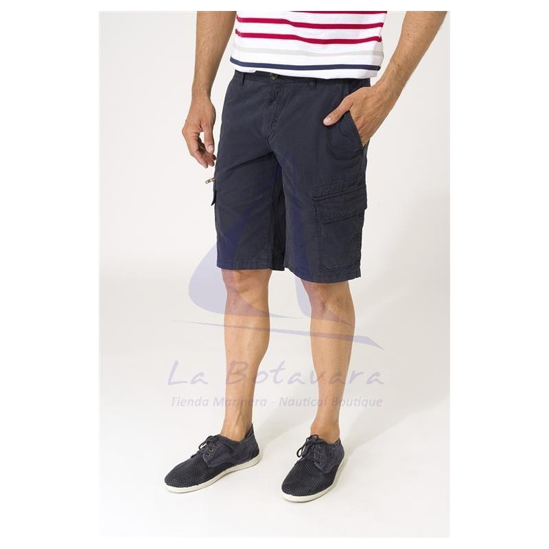 Navy blue Batela cargo shorts for man 2