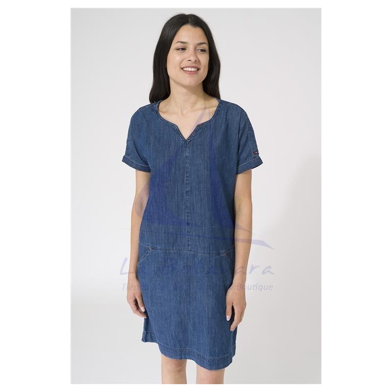 Denim Batela short sleeve dress for woman 2