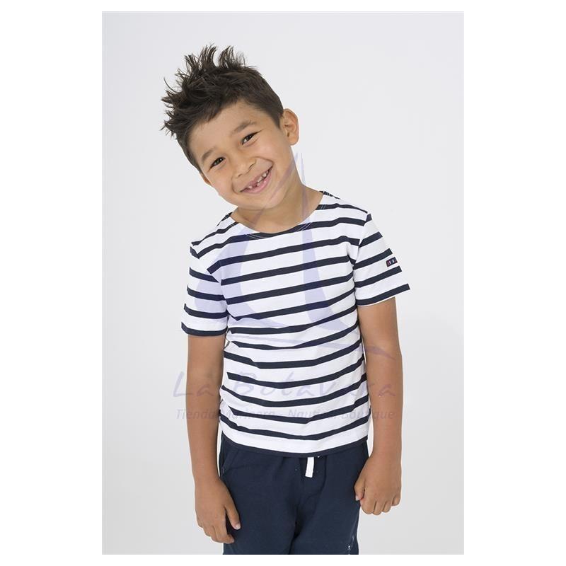 Camiseta Batela marinera blanco y azul marino de niño 2