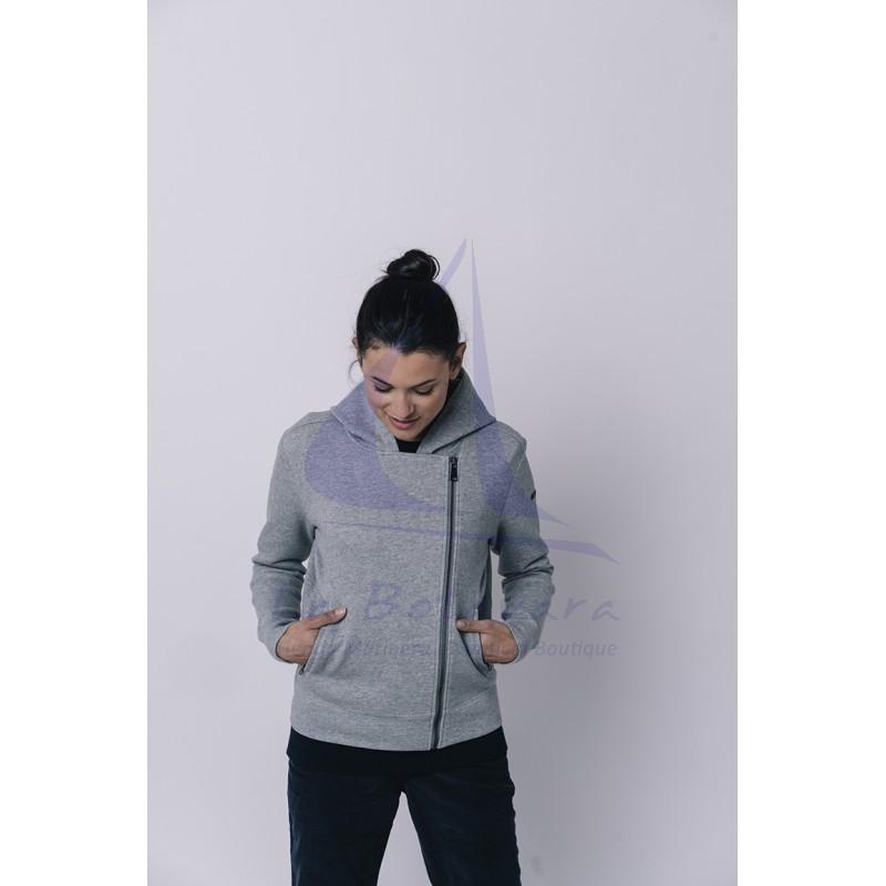 Grey Batela crossed jacket for women 3