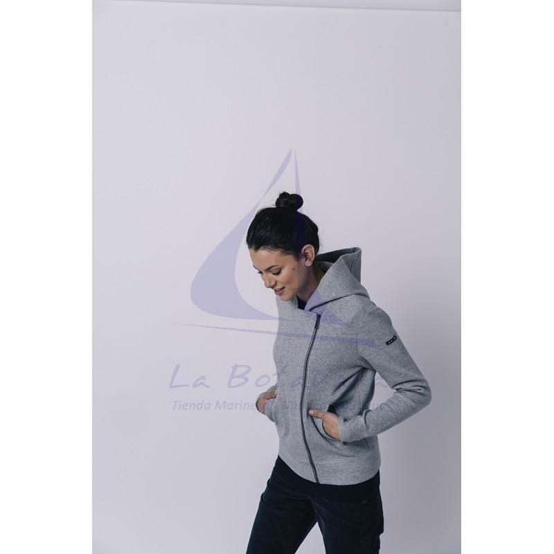 Grey Batela crossed jacket for women 2
