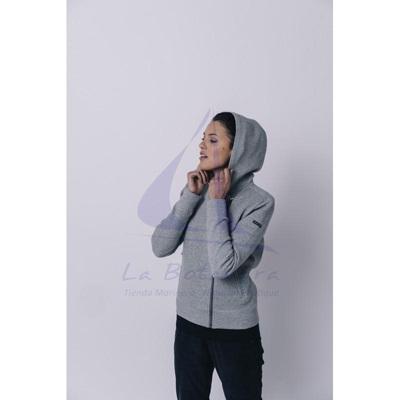 Grey Batela crossed jacket for women 4