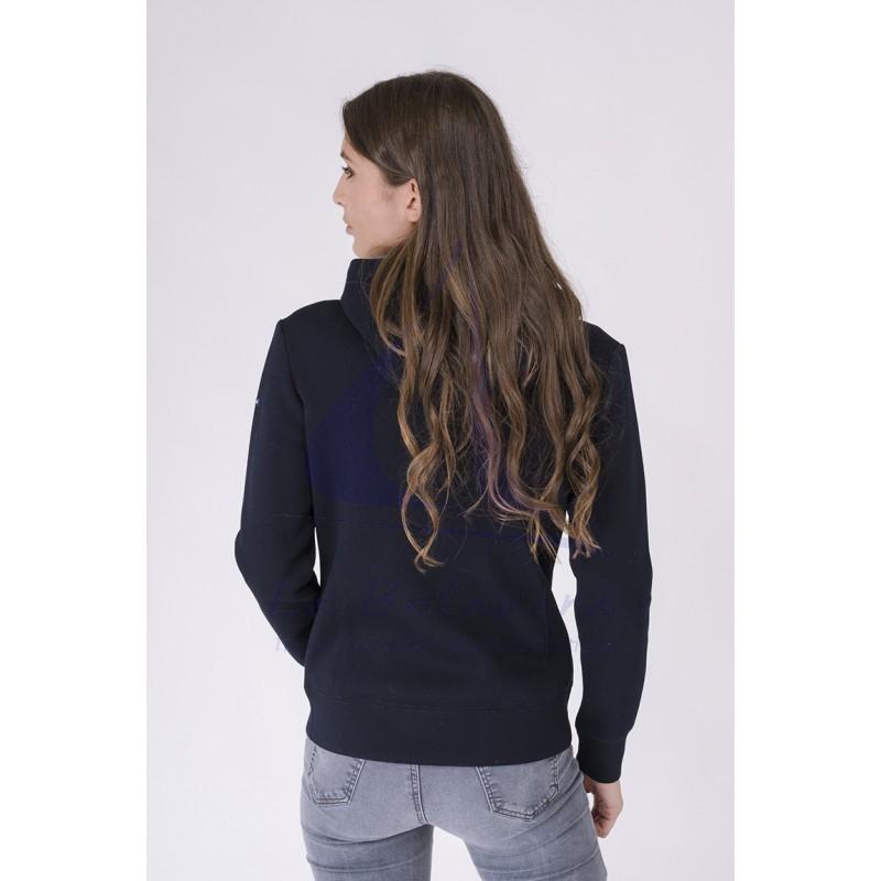 Navy blue Batela crossed jacket for women 3