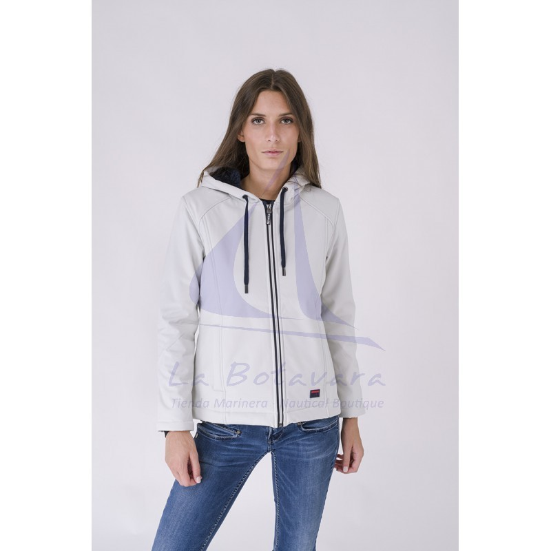 BATELA ECRU WINTER WOMAN SOFTSHELL 2