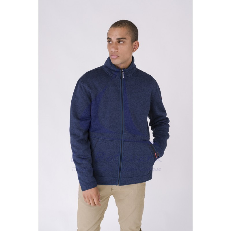 Batela navy blue nautical winter jacket for man