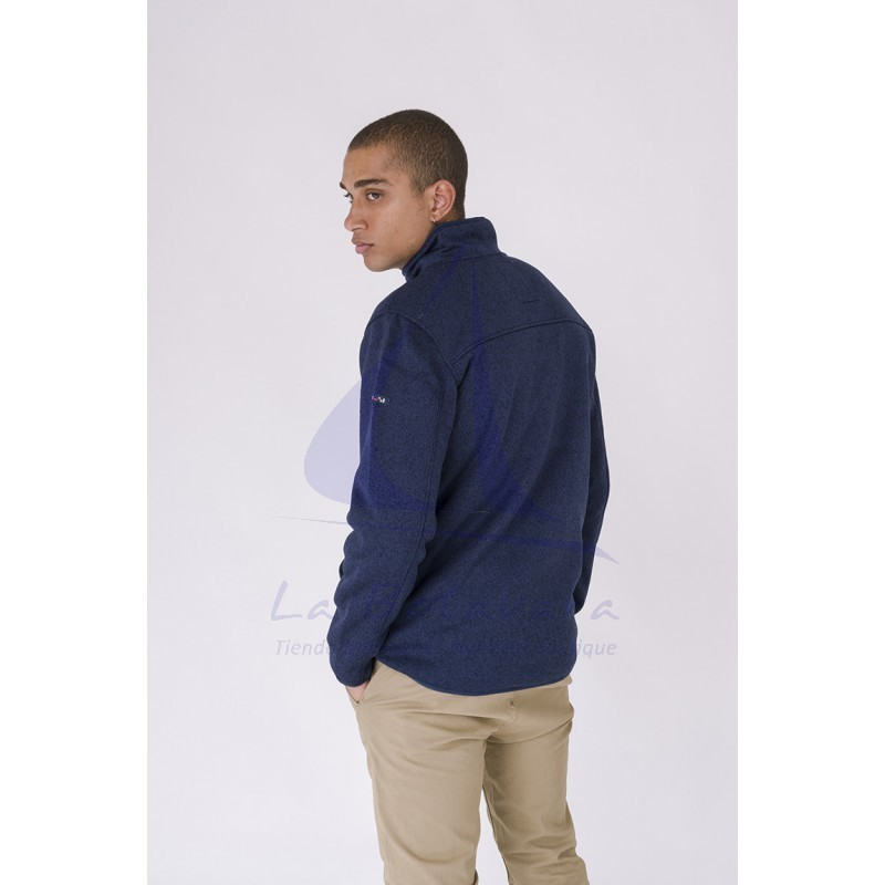 Batela navy blue nautical winter jacket for man 3