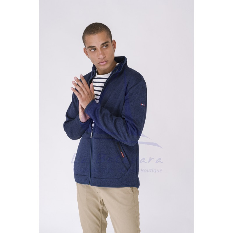 Batela navy blue nautical winter jacket for man 4