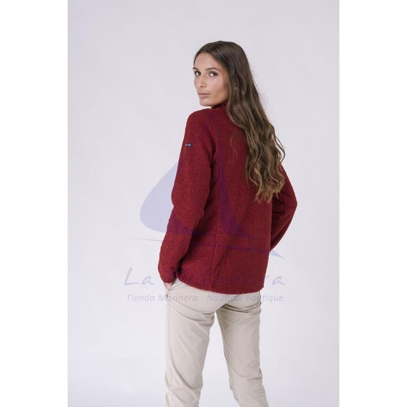 Red Batela teddy winter jacket for women 2