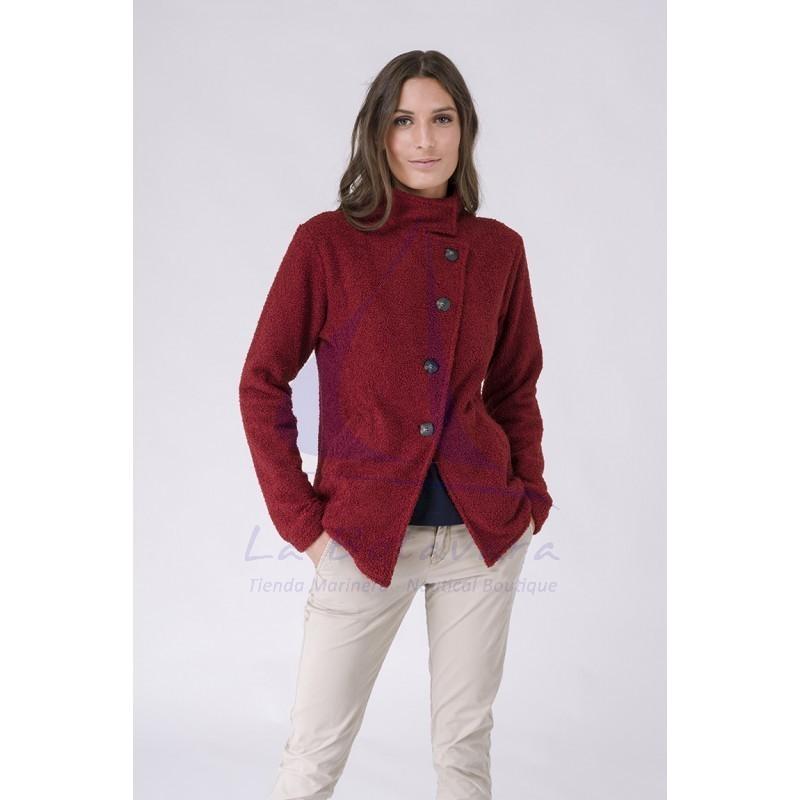 Red Batela teddy winter jacket for women