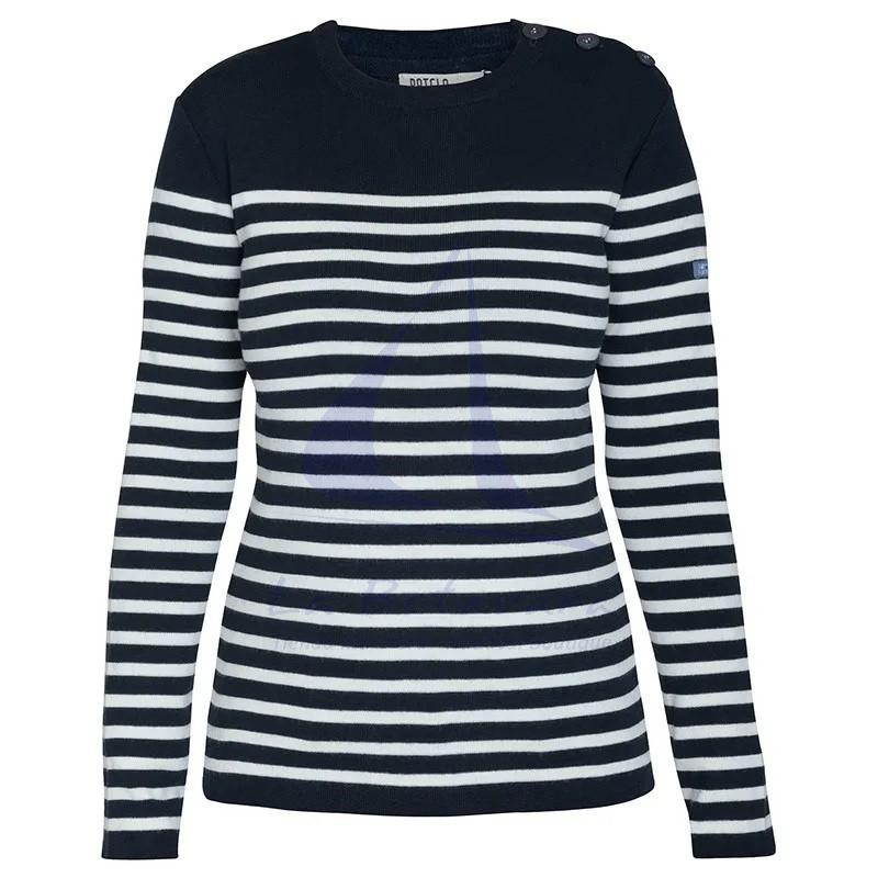Jersey Batela marinero de mujer azul marino y crudo