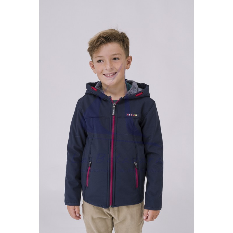 Navy blue Batela softshell for boy with sheerling