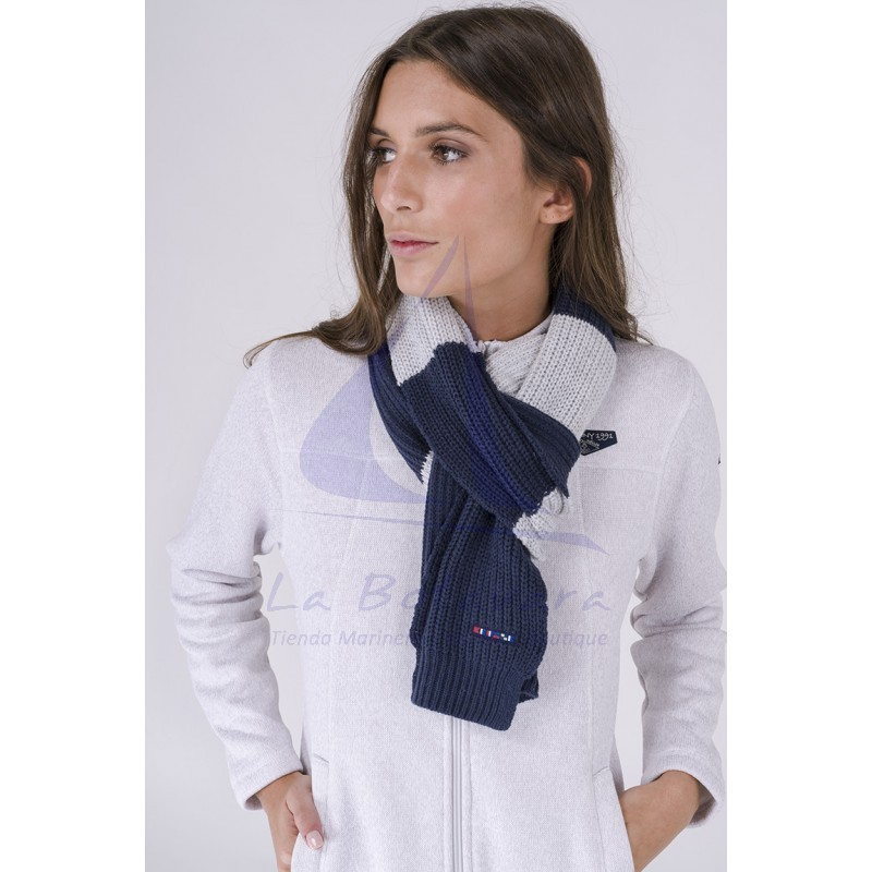 Batela grey and navy blue scarf 2