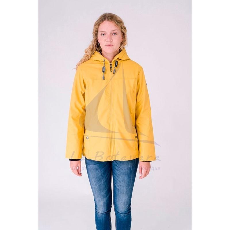 Yellow Batela winter raincoat with sheepskin lining for woman 3
