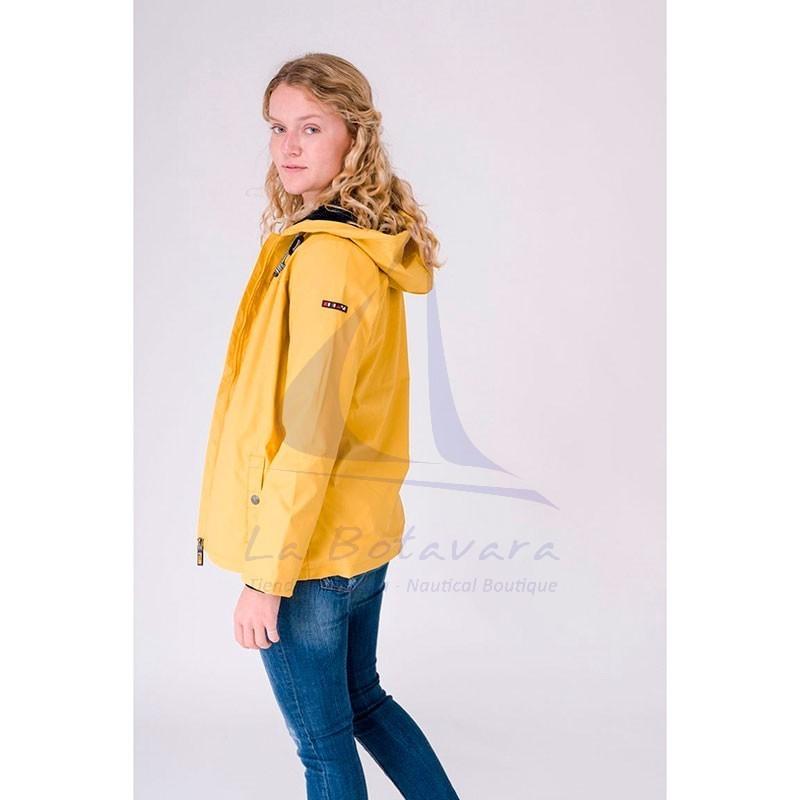 Yellow Batela winter raincoat with sheepskin lining for woman 4