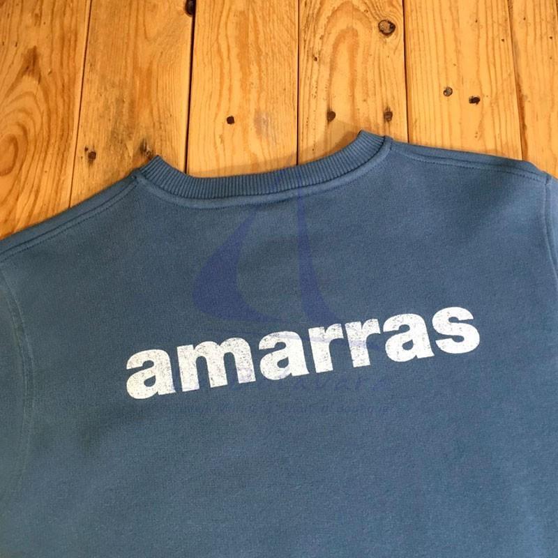 Amarras Matira navy blue sweatshirt for women with knot print 2