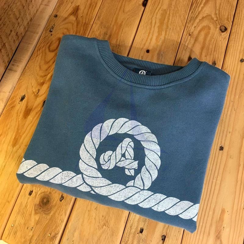 Amarras Matira navy blue sweatshirt for women with knot print