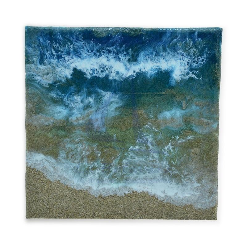 Cuadro marina de resina de 20x20cm