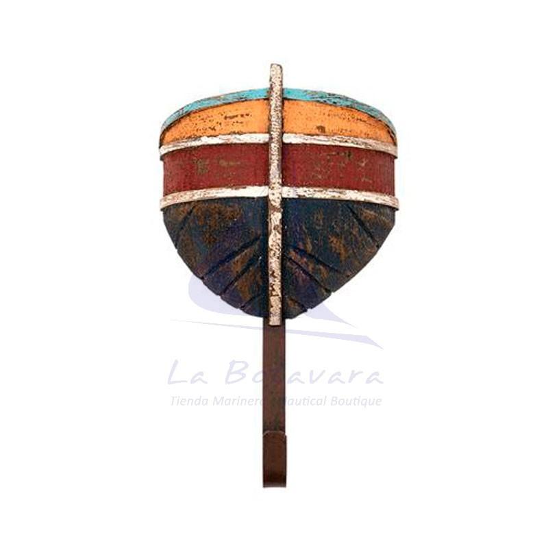 Percha de madera con forma de proa de barca 3