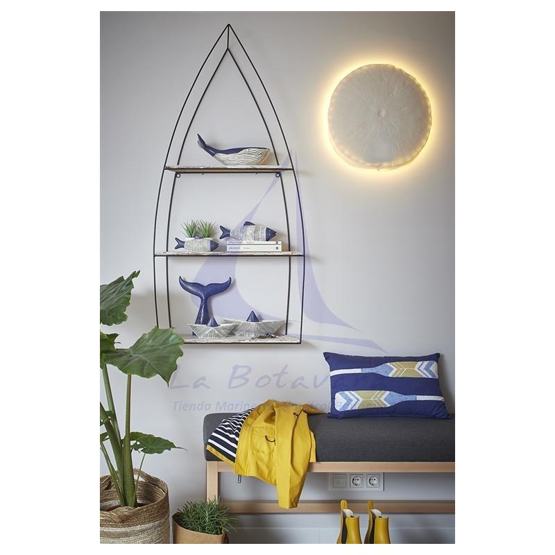 Oars nautical blue cushion 2