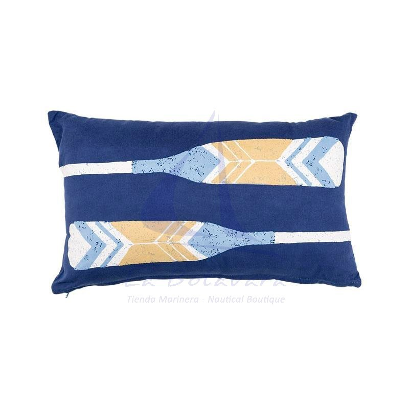 Oars nautical blue cushion