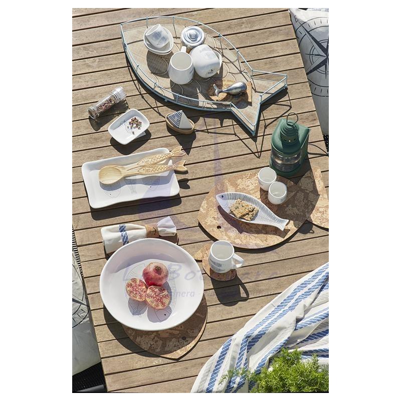 Fish wooden salad cutlery 2