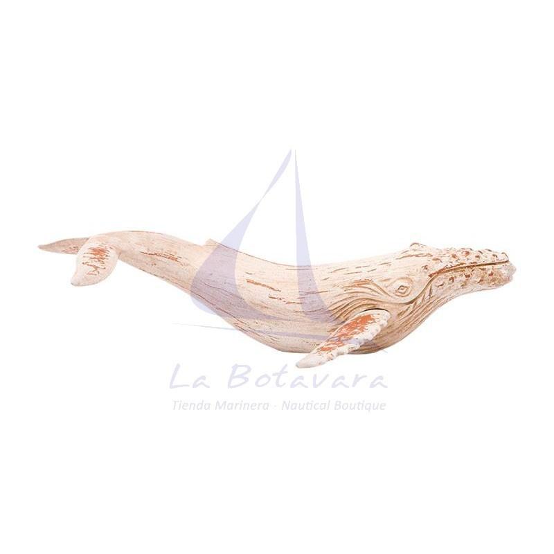 50cm decorative white humpback whale