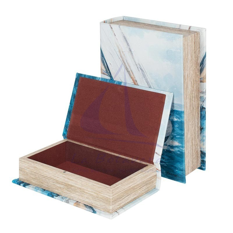 Caja libro con diseño de velero 2